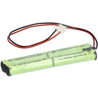 Faston Akku 4,8V 1500mAh 1,5Ah Ni-Cd NiCd für Notlicht Notbeleuchtung Notlampe