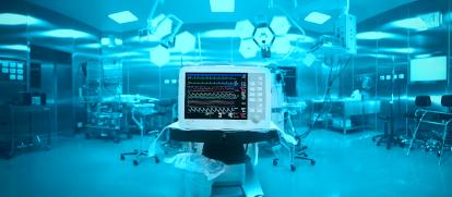 Lebenswichtige medizinische Geräte verfügen über eine Unabhängige Strom Versorgung.