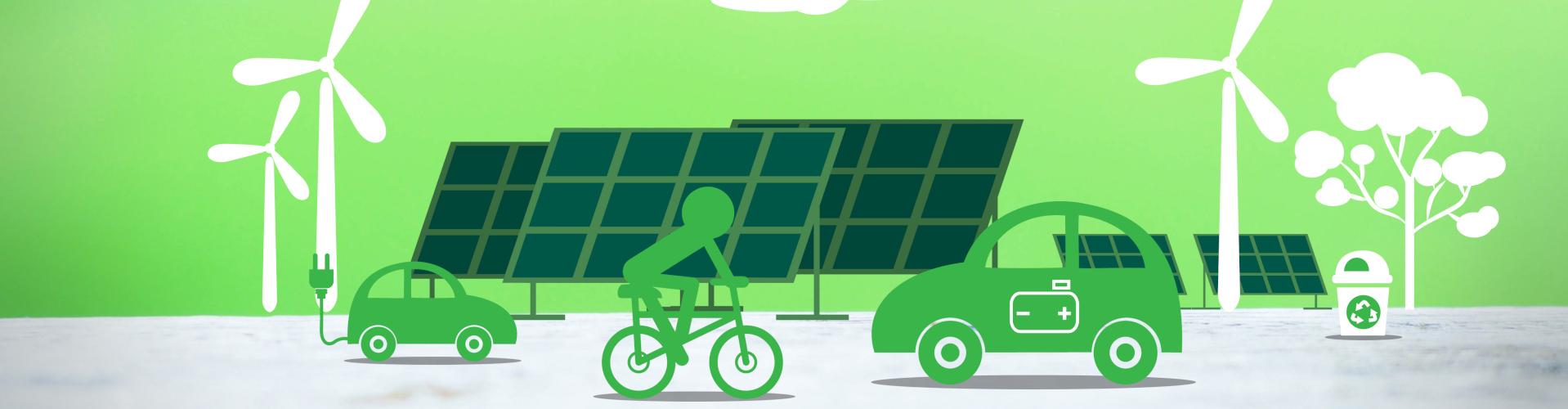 Konzept für eine verantwortungsvolle Nutzung von Ressourcen und der Umwelt über erneuerbare Energien.