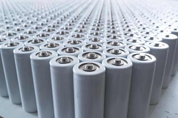 Eine komplette Charge Lithium Ionen 18650 Zellen aufgereit.