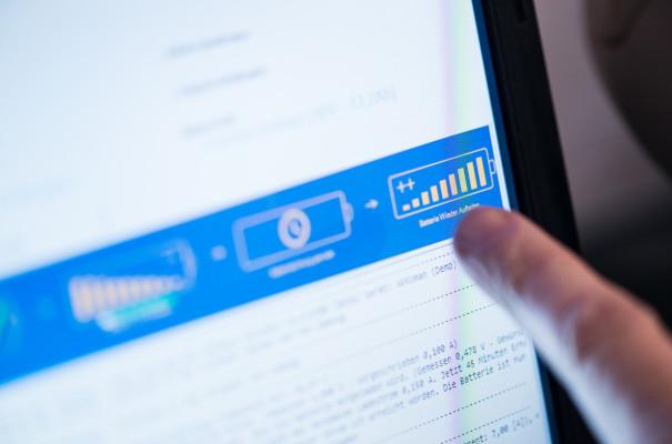Das Akku Analysetool von WSB stellt eine sichere und geprüfte Qualität sicher.