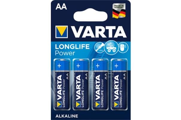 Ein Paket Standard-AA-Batterien von Varta.